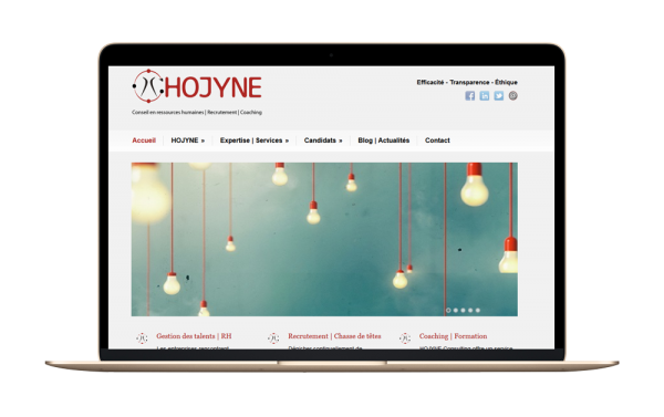 Conception du site Hojyne